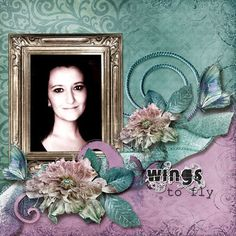 Wings to Fly : Gallery : A Cherry On Top. Another layout to use with Bo Bunny Enchanted Garden for similar look. Or may try this with Somewhere in Time Black and Yellow combo or Blue and Tan combo.