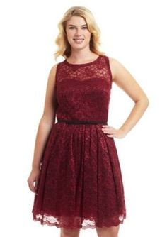 Taylor Sleeveless Lace Dress Burgundy Size 14 #232 #Taylor #Cocktail