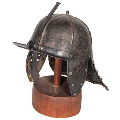 English Civil War Parliamentary Helmet | From a unique collection of antique and modern historical memorabilia at http://www.1stdibs.com/furniture/more-furniture-collectibles/historical-memorabilia/