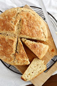 Irish Brown Bread | girlversusdough.com @stephmwise