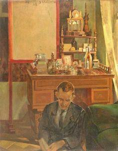 Jacek Malczewski (1854-1929) – Man Reading (1918)
