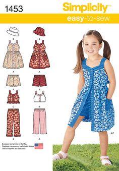 Simplicity Pattern 1453A 3-4-5-6-7--Child Sportswear
