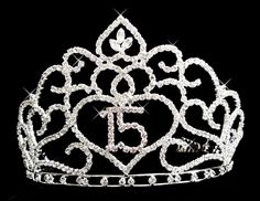 Elegance by Carbonneau Brilliant Sweet 15 Quincea?era Rhinestone Covered Tiara in Silver with Pink Accents 253 Sweet 15 Quinceanera, Quinceanera Tiaras, Quinceanera Themes, Quinceanera Dresses, Prom Dresses, Jewelry Party, Bridal Jewelry, Fairytale Bridal, Silver Rhinestone