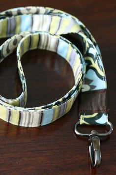 One Project A Day...: ID Badge Lanyard