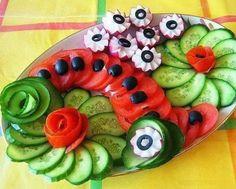 MENTŐÖTLET - kreáció, újrahasznosítás: Zöldségtál dekoratívan