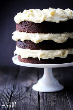 Guinness Chocolate Cake with Cream Cheese Frosting.