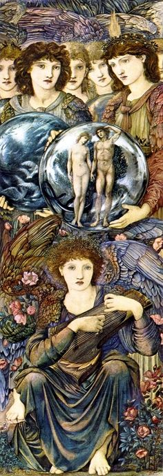 Edward Burne-Jones ~ The Angels of Creation ~ Panel Day 6 ~ 1875-1876