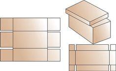 como hacer cajas de carton rectangulares - Buscar con Google