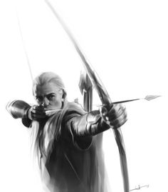Legolas sketch by euclase.deviantart.com on @deviantART/// what cheat code did this person use to get those drawing skills!?