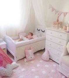 Baby Bedroom, Nursery Room, Girls Bedroom, Baby Room Design, Girl Bedroom Designs, Cute Room Decor, Baby Room Decor, Little Girl Bedrooms, Sister Room