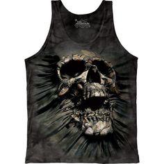 XL Skull Vein Skeleton  Fantasy Shirt Mountain Skulbone   Large