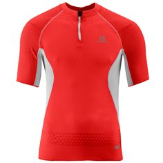 *NEW* SALOMON S-LAB EXO ZIP TEE SHIRT - RACING RED - MEN'S MEDIUM - RUNNING #Salomon #ShirtsTops