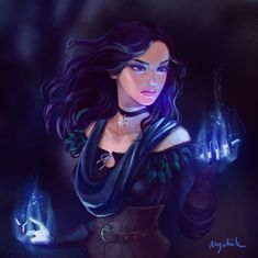 Yennefer of Vengerberg. My favorite sorceress! Dnd Characters, Fantasy Characters, Female Characters, The Witcher Game, Witcher Art, Dark Fantasy Art, Fantasy Girl, Female Character Design, Character Art