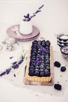 Blackberries & lavender tart