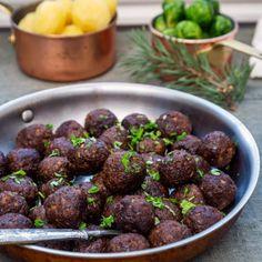 Veganska julköttbullar Easy Healthy Recipes, Raw Food Recipes, Veggie Recipes, Vegetarian Cooking, Vegetarian Recipes, Vegan Christmas, Swedish Recipes, Fabulous Foods, Going Vegan