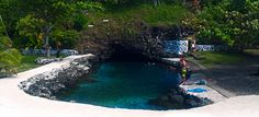 Swam here a lot as a young girl. Piula Cave Pool in Upolu, Samoa. So beautiful.