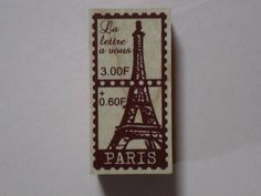 Stamp 東京アンティーク スタンプ エッフェル切手4cm×2cm インテリア 雑貨 家具 Antique ¥720yen 〆05月14日