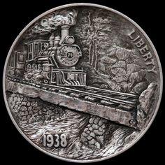 A wonderful train scene by Aleksey Saburov