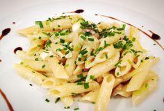 Champignon-Feta Penne von cookingsociety.at Penne, Feta, Macaroni And Cheese, Spaghetti, Ethnic Recipes, New Recipes, Fresh, Koken, Mac And Cheese