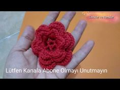 Tığ İşi Çiçek Motifi Yapımı - YouTube