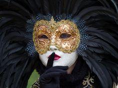 Venetian Mask Colombina Carnival of Venice Italy - Beautiful modern mask of mysterious