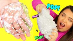 DIY Bubble Wrap Slime! Super Crunchy Popping Slime! - YouTube