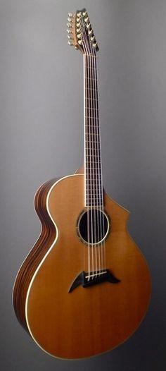 BREEDLOVE 12 String (MJ22/E) Striped Ebony and Sitka Spruce   Dream Guitars