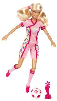 Amazon.com: Barbie I Can Be Team Barbie Soccer Champion Doll: Toys & Games