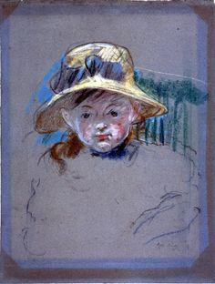 Child with Hat by Berthe Morisot
