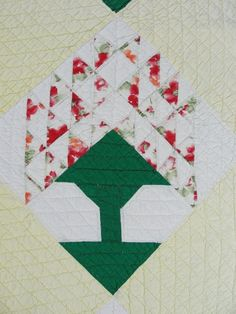 $245 Vintage 30s Pine Tree of Life QUILT from vintageblessings on Ruby Lane