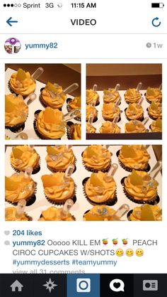 Ciroc cupcakes... Wow. Can't wait to try one. Made by @ yummy82 on Instagram