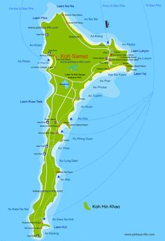 mapKohSamet Thailand Pinterest Rayong Pattaya and Bangkok