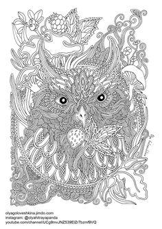 Free Adult Coloring Pages Illustrator Olga Goloveshkina