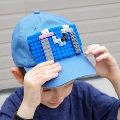 60db3351c04 Make a LEGO cap with actual bricks - the favorite summer accessory for kids  who love to build!
