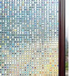 Amazon.com: Rabbitgoo 3D Decorative Window Film, Non-Adhesive Privacy Films - Frosted Window Glass Film for Home Office, Removable Rainbow Window Tint Film, Mosaic Patterns, 17.5 x 78.7 inches: Home & Kitchen