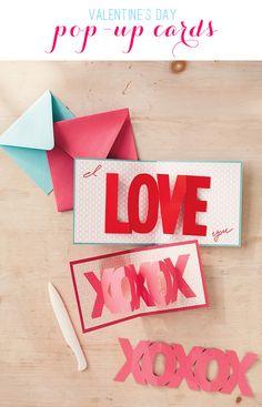 Pop-Up Valentine's Day Cards by @kimbyers
