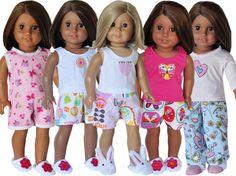 American Girl Birthday Party  Pajama Party by LoriLizGirlsandDolls, $60.00