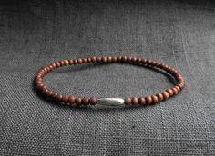 Sandalwood Sterling Silver Bracelet / Men by on Etsy Bracelet Men, Bracelets For Men, Sterling Silver Bracelets, Horns, Brass, Gemstones, Unique Jewelry, Handmade Gifts, Leather