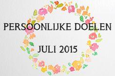Persoonlijke Doelen Voor juli 2015