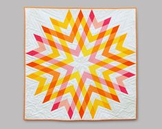 Outburst is a PDF quilt pattern for the intermediate level quilter. This pattern is for the quilt top only. The pattern contains two color options as well Star Quilts, Mini Quilts, Quilt Blocks, Scrappy Quilts, Baby Quilts, Star Blocks, Patchwork Quilting, Quilt Festival, Quilting Projects