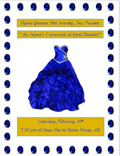 This flyer was created for Sigma Gamma Rho Sorority, Inc.  To get more information about our flyers, please visit www.ParkMonMedia.com.