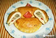 Hagymás-gombás pirog Lidl, Empanadas, Meat Recipes, Pancakes, Bakery, Cooking, Breakfast, Food, Kitchen