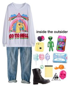 """""""inside the outsider"""" by a-lily-bit-of-everything ❤ liked on Polyvore featuring Charlotte Russe, Cotton Candy, J.Crew, Blue Q, Lime Crime, D.L. & Co., Skullcandy, Novelty and tumblr"""