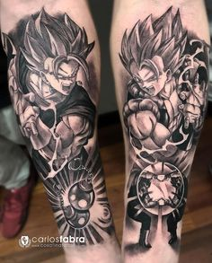 The biggest gallery of Dragon Ball Z tattoos and sleeves, with a great character selection from Goku to Shenron and even the Dragon Balls themselves. Dbz, Goku Y Vegeta, Tattoo Henna, Tattoo On, Anime Tattoos, Body Art Tattoos, Majin Tattoo, Trendy Tattoos, Tattoos For Guys