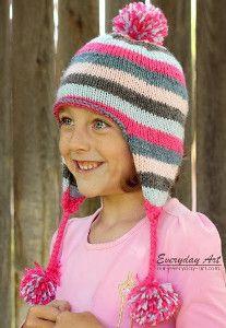 Veronica Ear Flap Hat | AllFreeKnitting.com