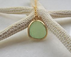 SEAGREEN QUARTZ NECKLACE by MiriamAriano on Etsy, $22.00- loveeeee this