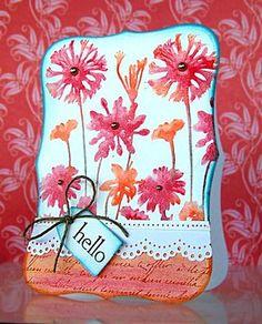 Card by Jill Foster using Design Memory Craft Gelatos.