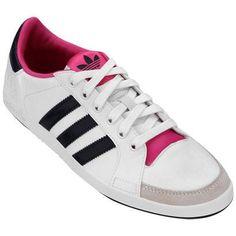 Tênis Adidas Court Side Low W – Branco e Marinho - http://batecabeca.com.br/tenis-adidas-court-side-low-w-branco-e-marinho-netshoes.html
