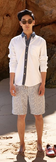 Tommy Hilfiger SS13 Aiden Shirt, Dax Swimshort, Andre Loafer #tommyhilfiger #SS13 #menswear #Summer2013