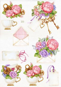 Printable Stickers, Printable Wall Art, Watercolor Illustration, Watercolor Art, Watercolor Wedding, Eq Arte, Wedding Planner Binder, Wedding Clip, Clip Art